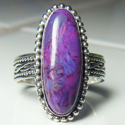 Handmade Sterling Silver Purple Mohave Turquoise Ring