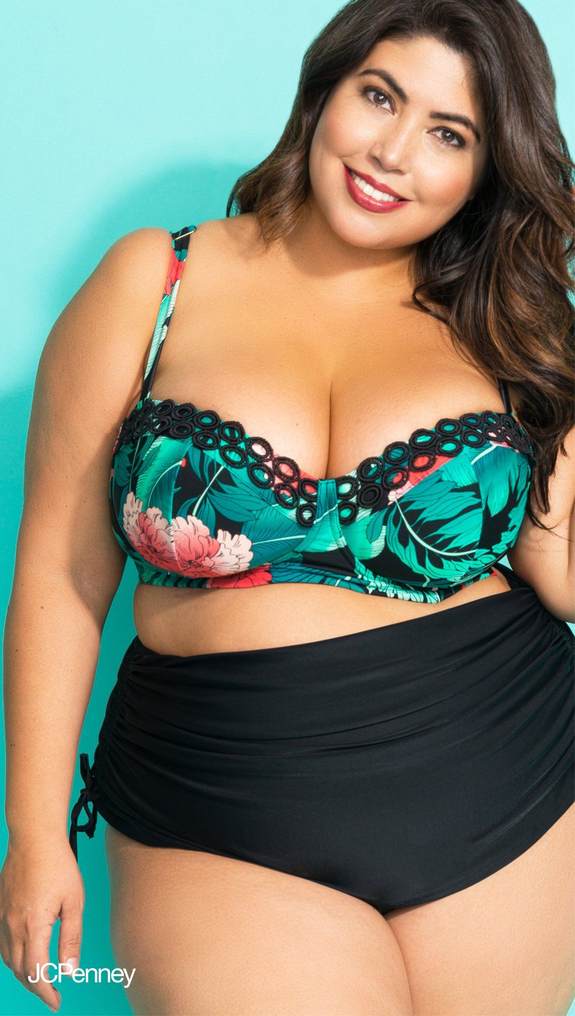 acaa98193b0 Looking for high waist bathing suits for curvy girls  We have just the  thing—the all new Boutique Plus swimwear in collaboration with plus size  model ...