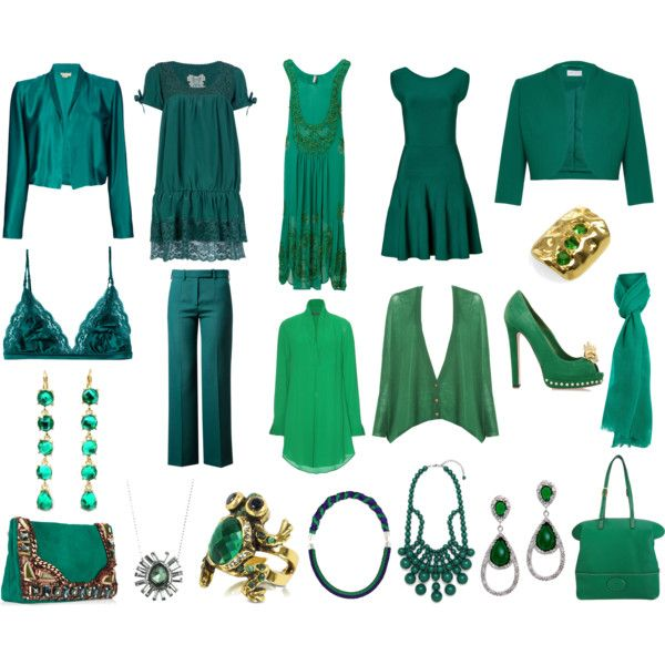 Emerald Green by sczimme on Polyvore