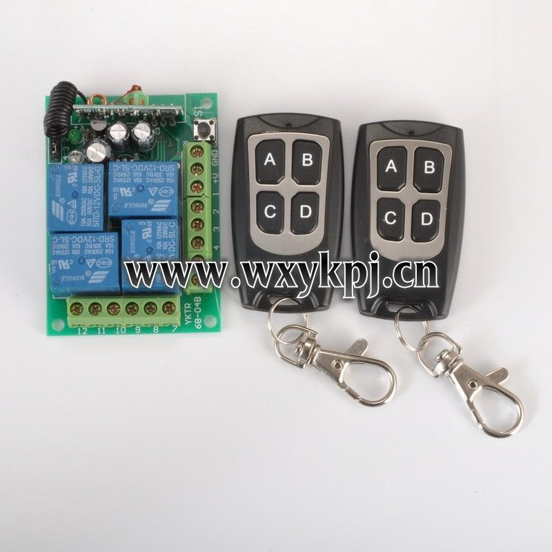 Toggle Momentary Latched 12v Dc 10a 4 Channel Rf Controller Wireless Remote Control Switch 12 V 2 Transmitter And Receiver Transmitter 4 Channel Remote Control