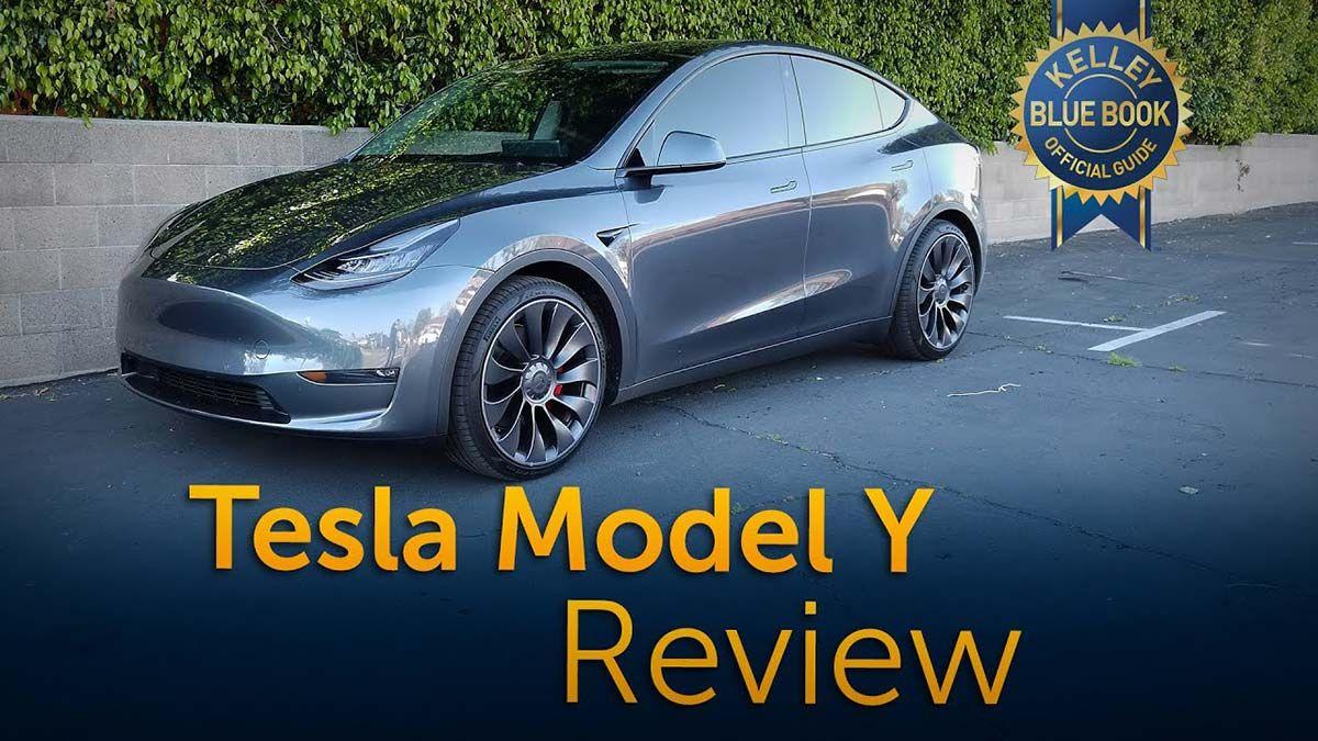 Bask In Its Silent Intensity Model Y Video Review By Kelley Blue Book Blue Books Tesla Model Tesla
