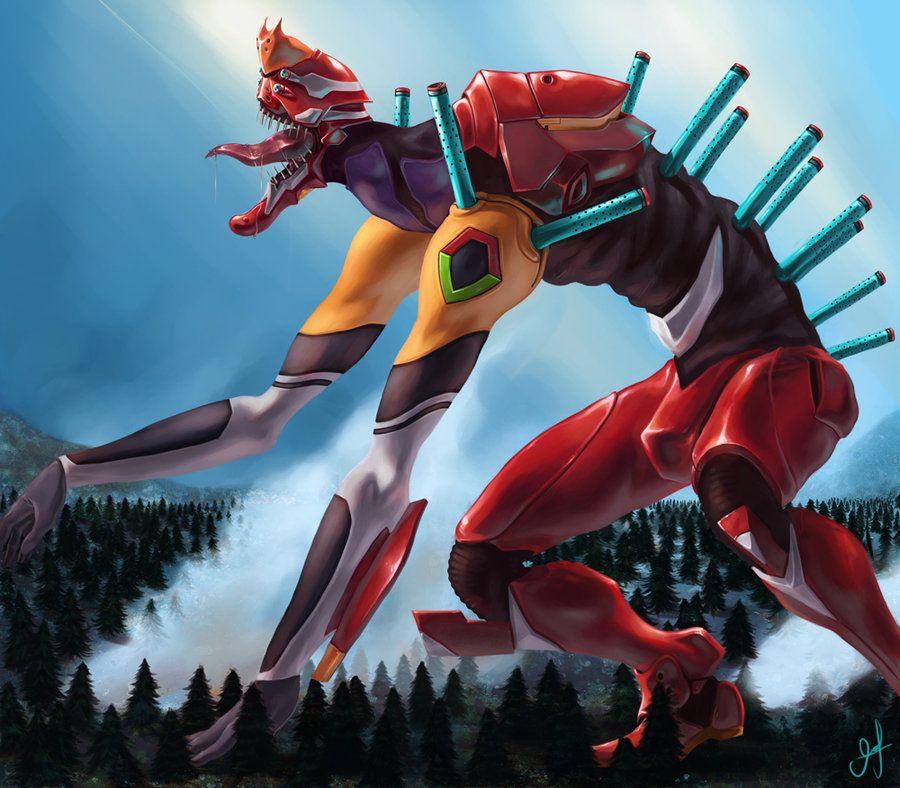 Neon Genesis Evangelion 2 0: Eva Unit 02, The Red One Has Always Been My Fav Unit. I