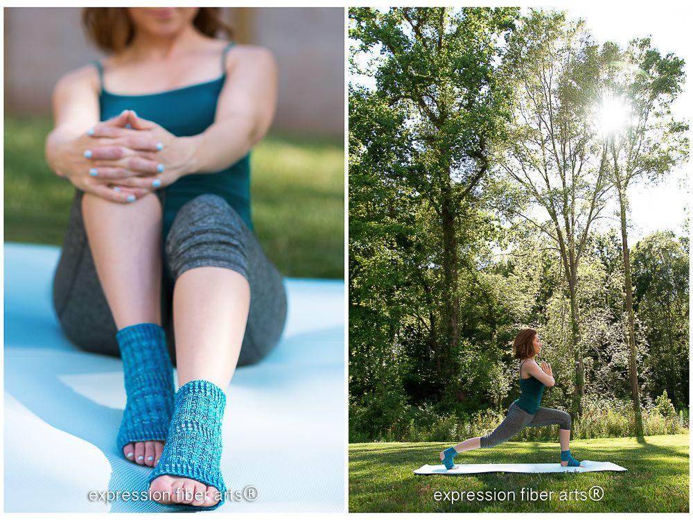 Asana Knitted Yoga Sock Pattern | Pinterest | Dos agujas