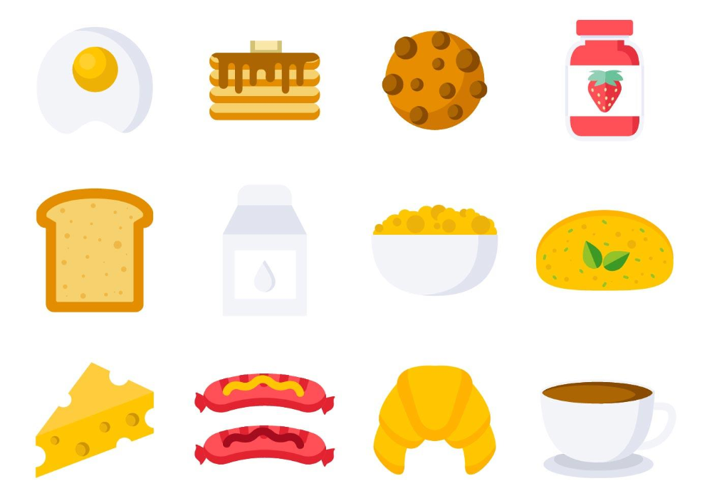 Free Breakfast Icons Vector Vector Free Bakery Icon Sketch Menu