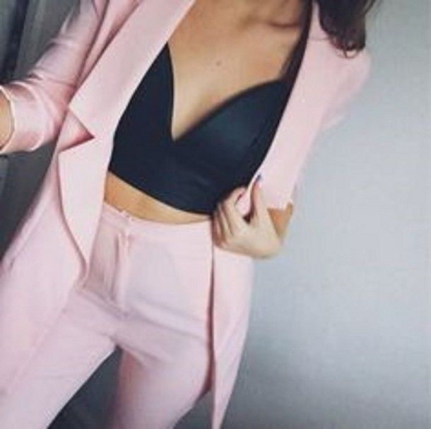 6f2bfee0d9bcd bralette top with blazer - Google Search
