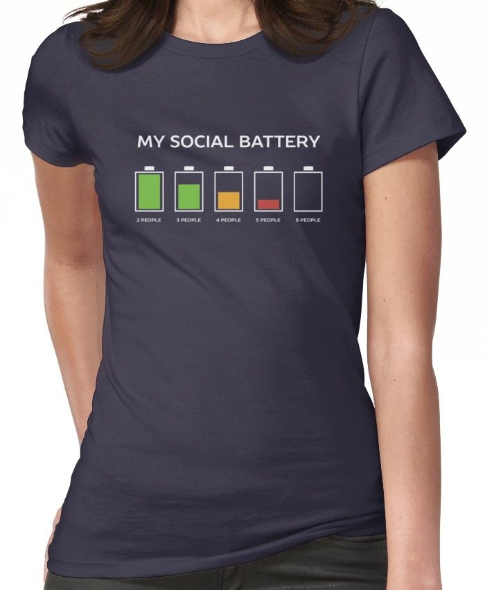 'Funny Introvert Humor ' T-Shirt by happinessinatee