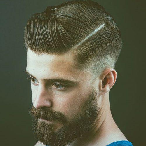 Das Seitenteil Haarschnitt kann die klassische Männer s ...