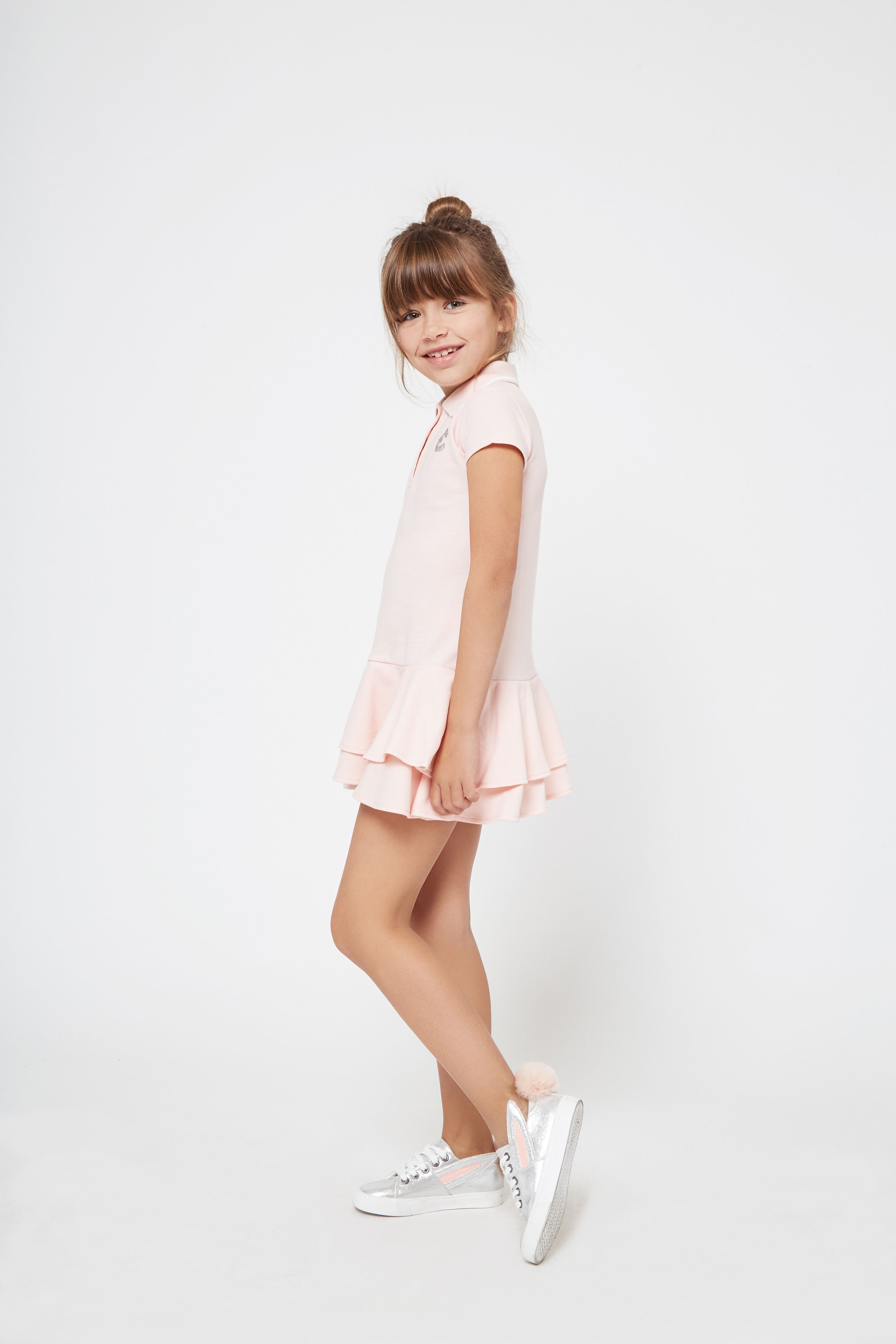 8d9a740eb Vestido de Niña Polo Rosa Volantes - Moda - Niña - Conguitos #kidsfashion  #dress #kids #springsummer #ss18 #vestido #modaniña #niña