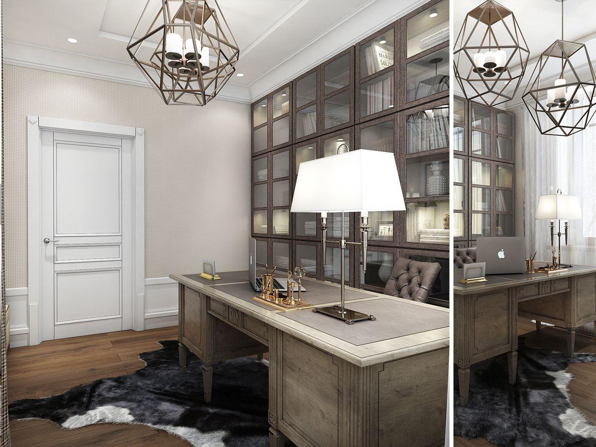 classic home office. Ukrainian Design Team Creates Interiors Of Luxurious Comfort Classic Home Office