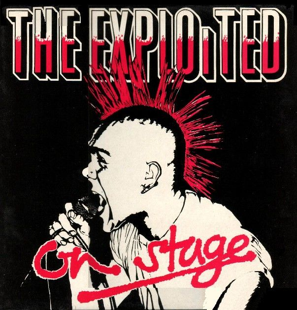The Exploited Live On Stage Vinyl Rock Posters Exploitation