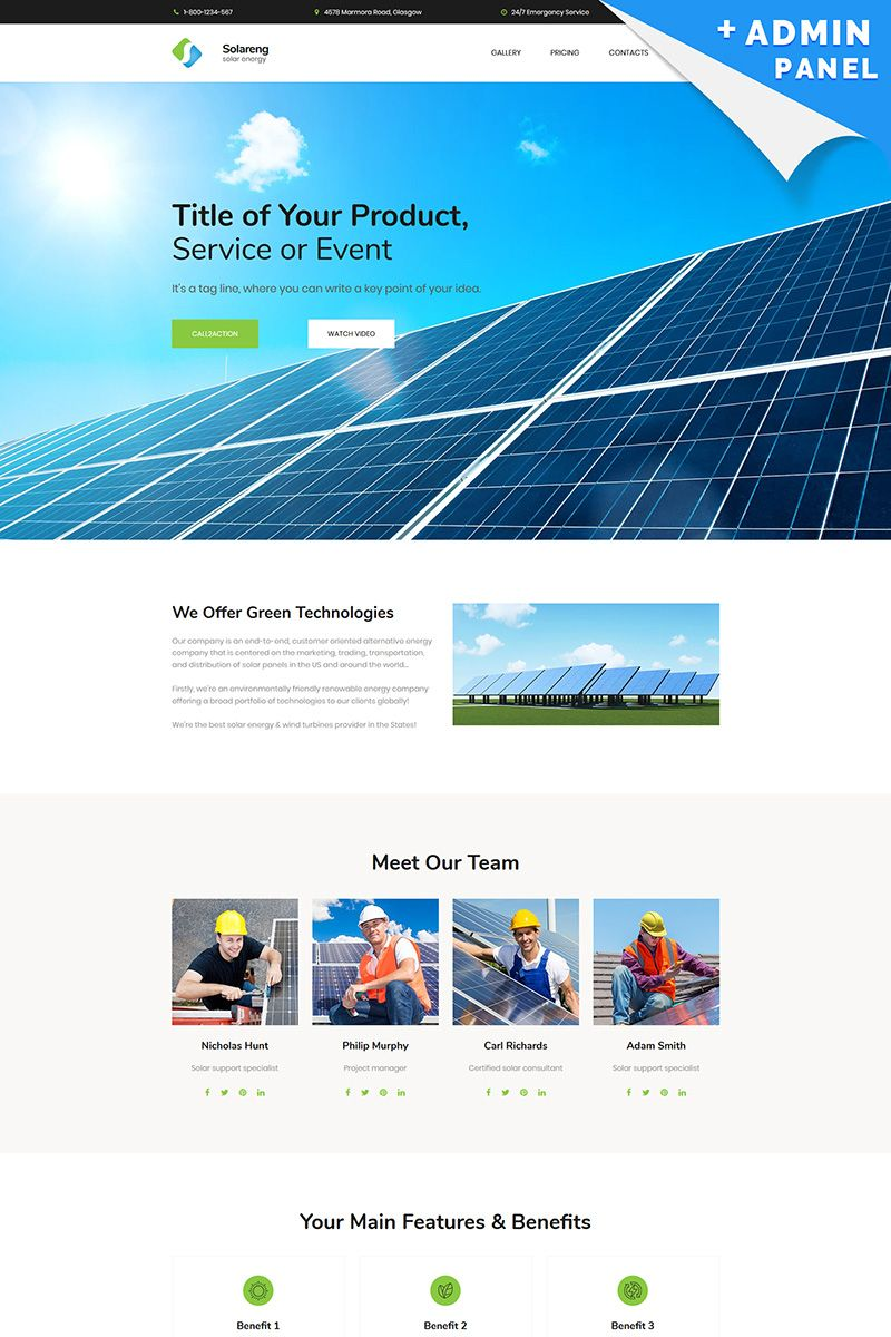 Solar Energy Motocms 3 Landing Page Template Motocms Energy Solar Template Landingpage Solar Energy Facts Solar Energy System Solar