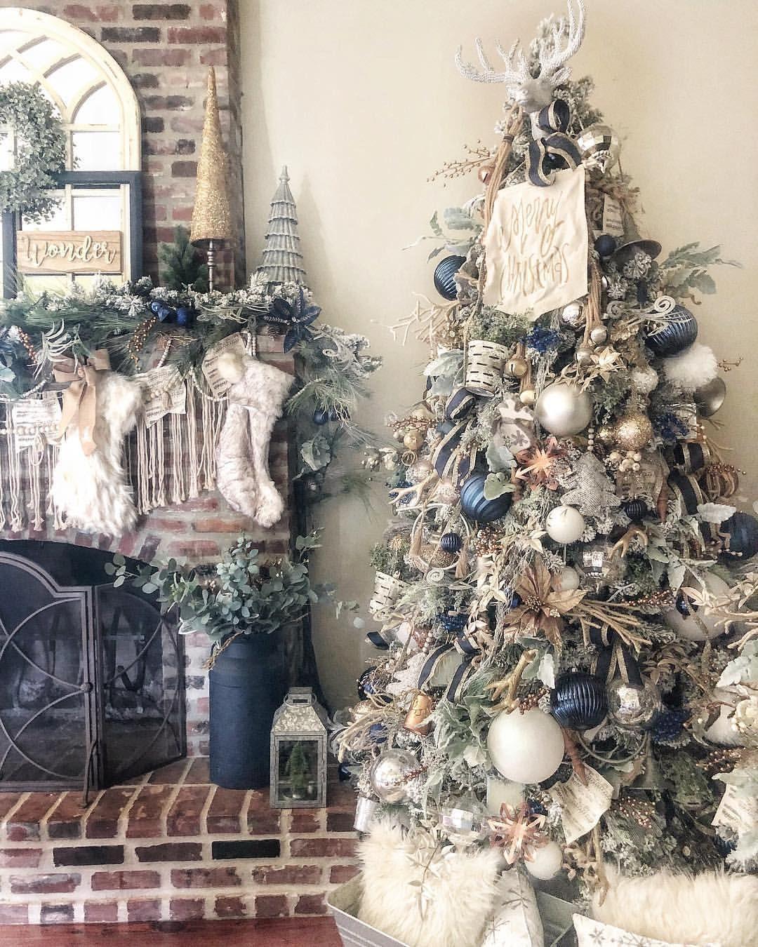 Christmas Tree Farmhouse Christmas Tree Rustic Glam Christmas