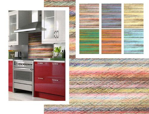 Decorative wall panel for kitchen in recycled material (backsplash ...