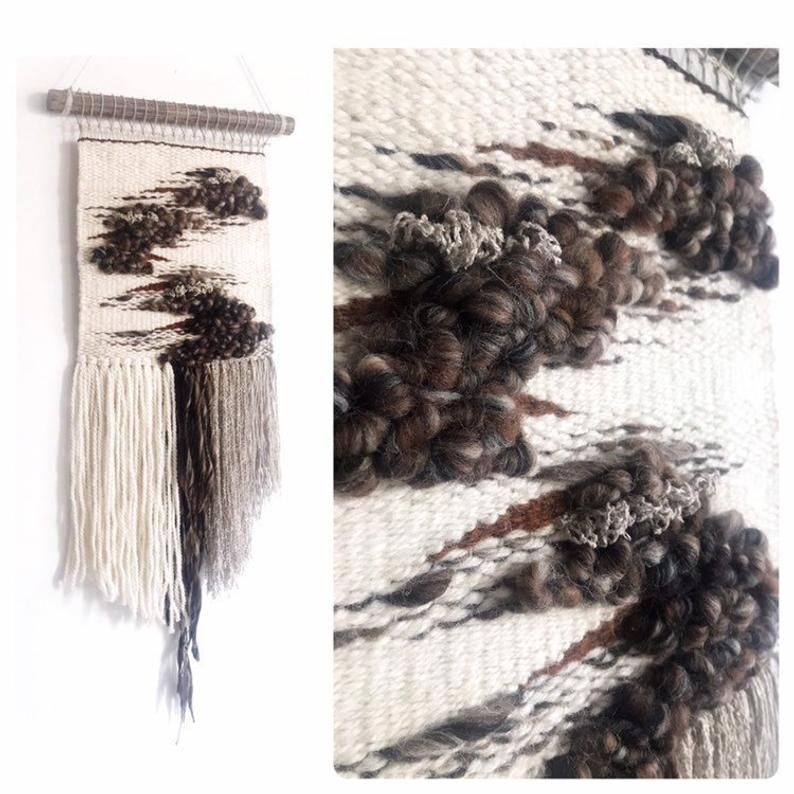 Woven Wall Hanging Neutral Textile Wall Art Weaving Wall Etsy In 2021 Weaving Wall Hanging Textile Wall Hangings Textile Wall Art