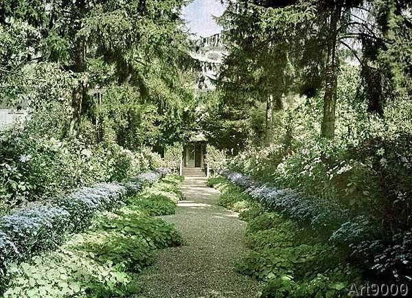 French Photographer - Path in Monet's Garden at Giverny, early 1920s