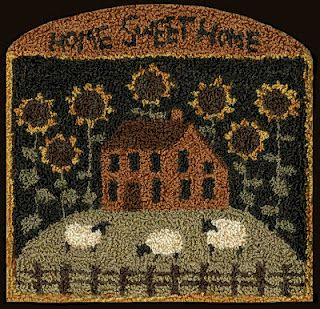 love this! Giant sunflowers and itty bitty sheep! My fav colors!