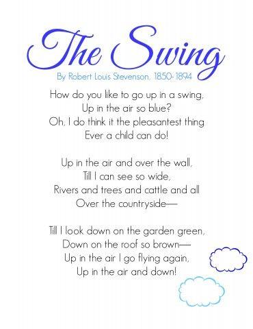 The Swing Poetry For Kids Memories Make It Simple