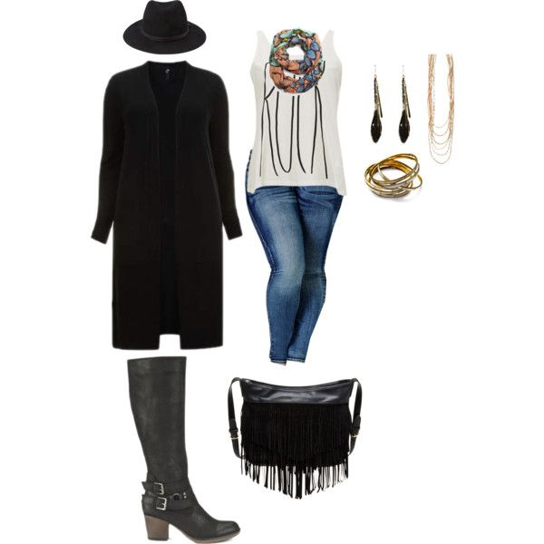 A fashion look from January 2015 featuring black top, white cami and super skinny jeans. Browse and shop related looks.