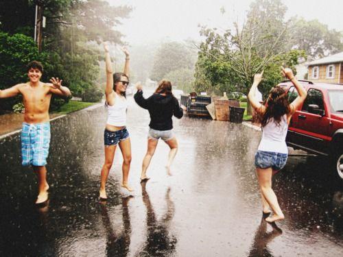 dancing in the rain ♥