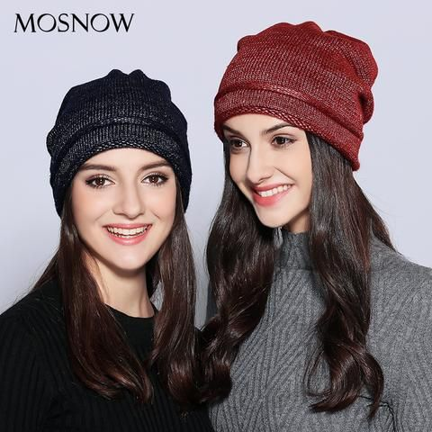 4eeefb30472 MOSNOW Hats For Women Unique Design Wool Knitted 2018 Autumn Winter Brand  New Shining Warm Hat