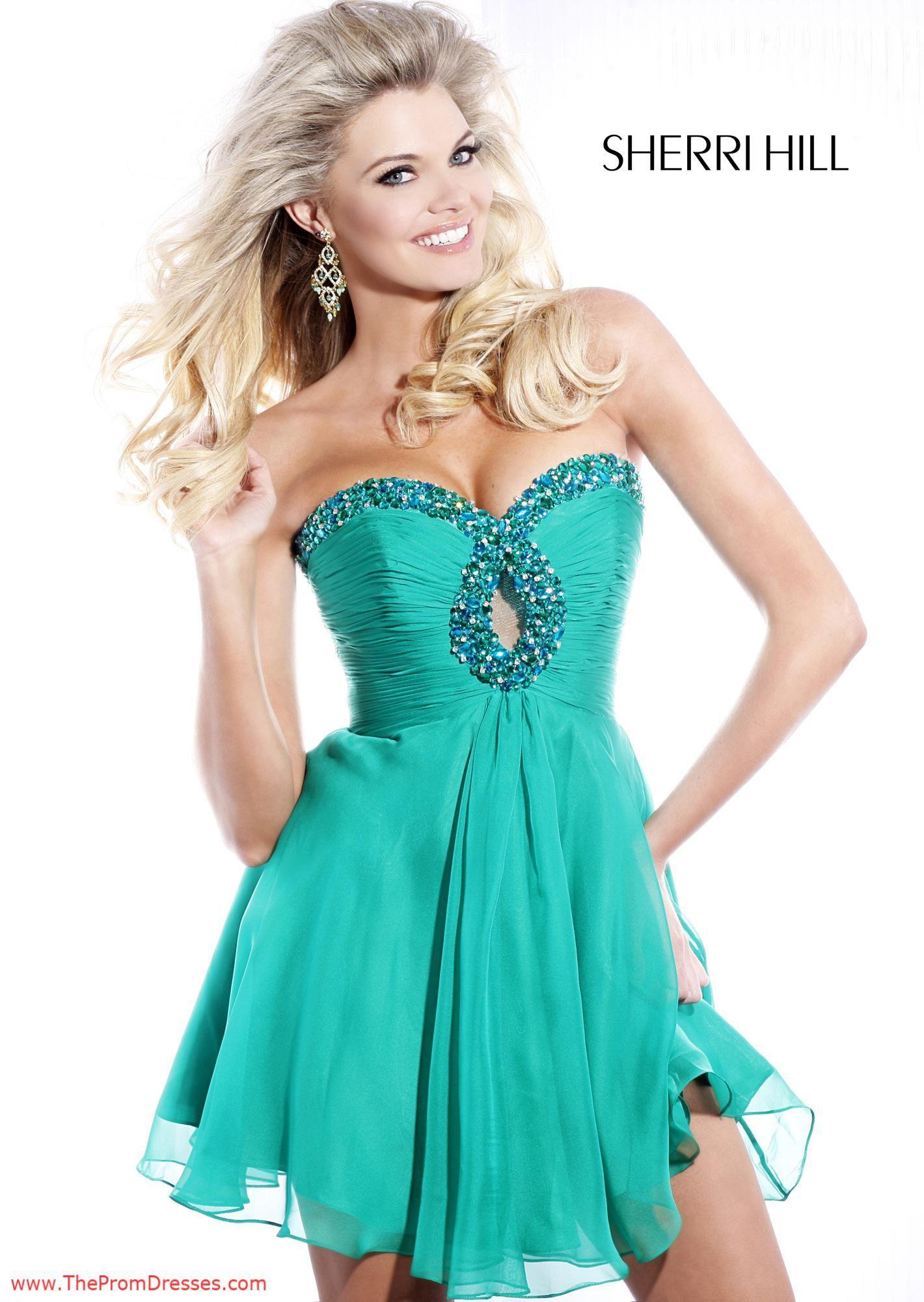 Sherri Hill 2944 Teal Dress | Most Popular Dress Styles ...
