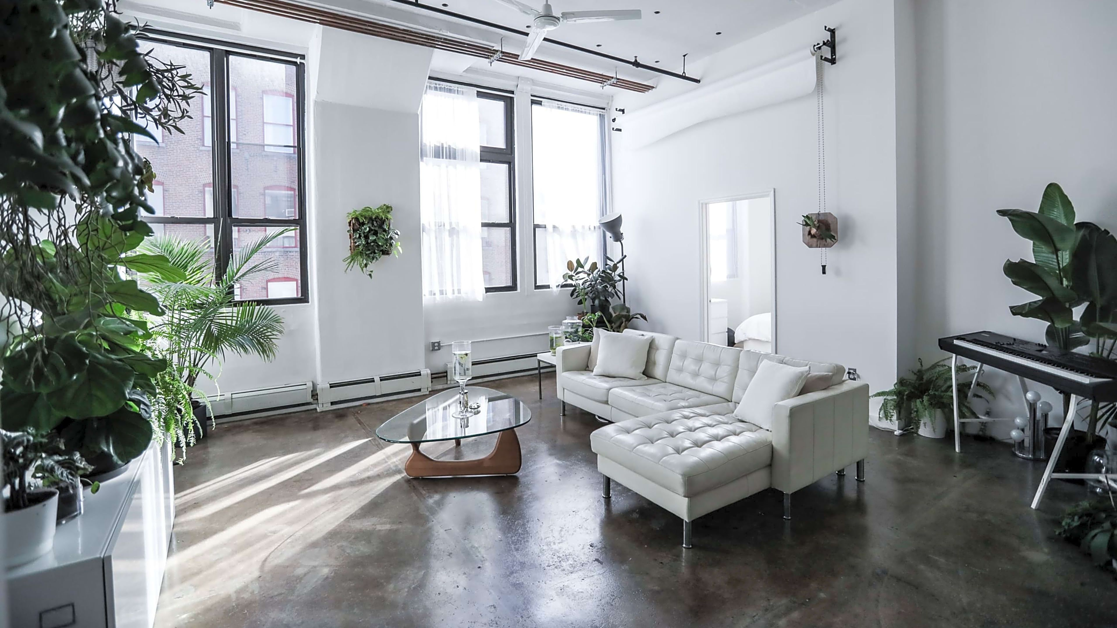 1000 Sq Ft Minimal Loft 12ft Ceilings Event Space Williamsburg New York Corporate And Social Venues Living Room Console Loft Spaces Rental Furniture