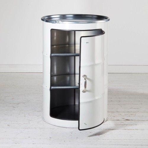 bidon meuble blanc bidon d 39 huile recycl bidon recup. Black Bedroom Furniture Sets. Home Design Ideas