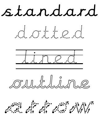 Download Click to see all cursive unjoined font packs   Font packs ...