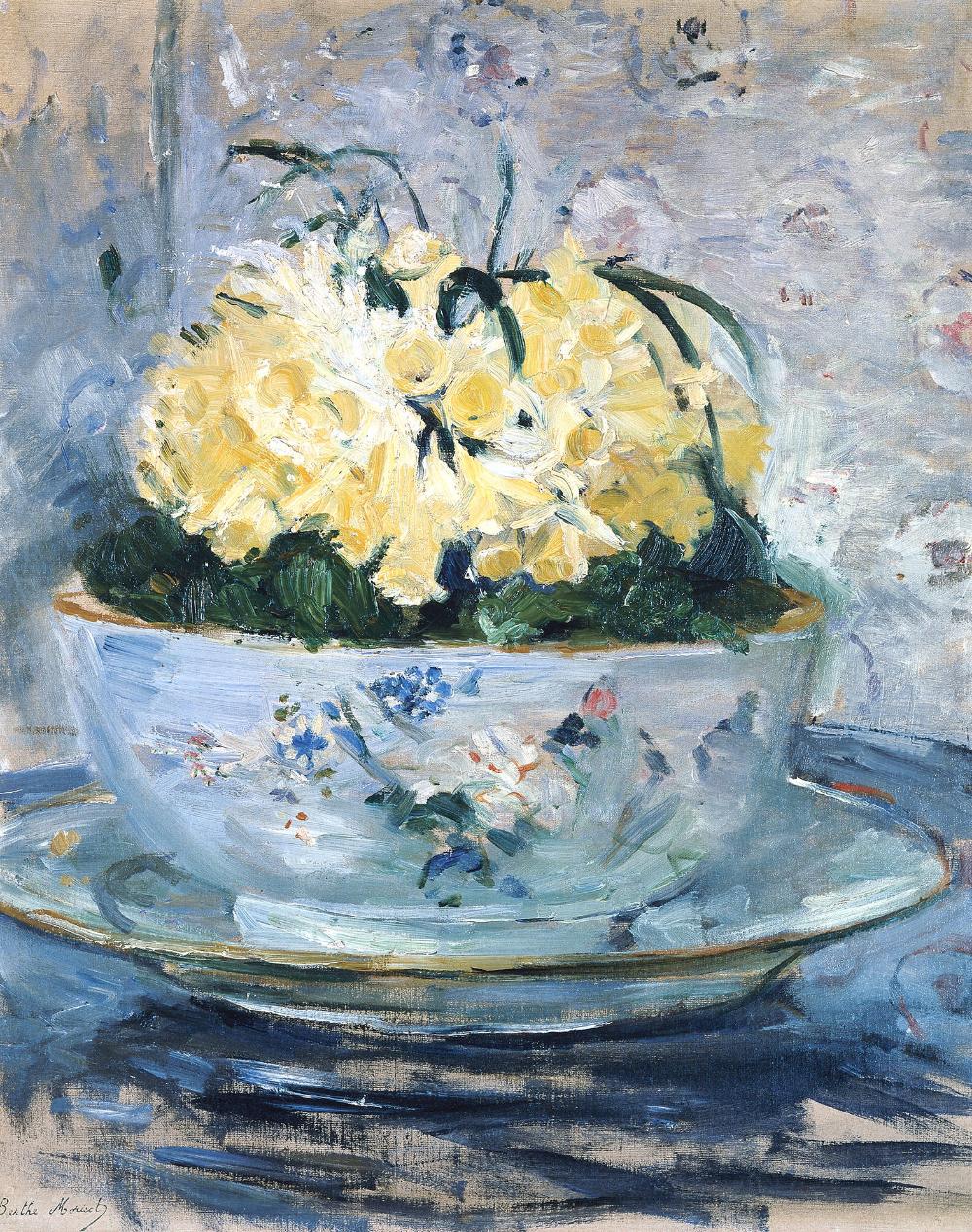 Berthe Morisot: Jonquilles [Jonquils, Narcisses, narcissi, Daffodils]  (1885) | Morisot, Berthe morisot, Renoir paintings