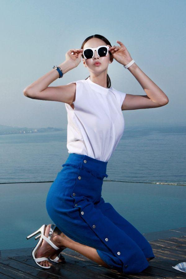 modern Blouse  white blouse ootd dint 딘트