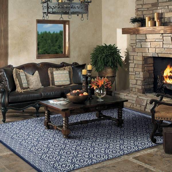 Living Room Rug 6x9 Mohawk Blue Tile Bed Bath Beyond 89 99