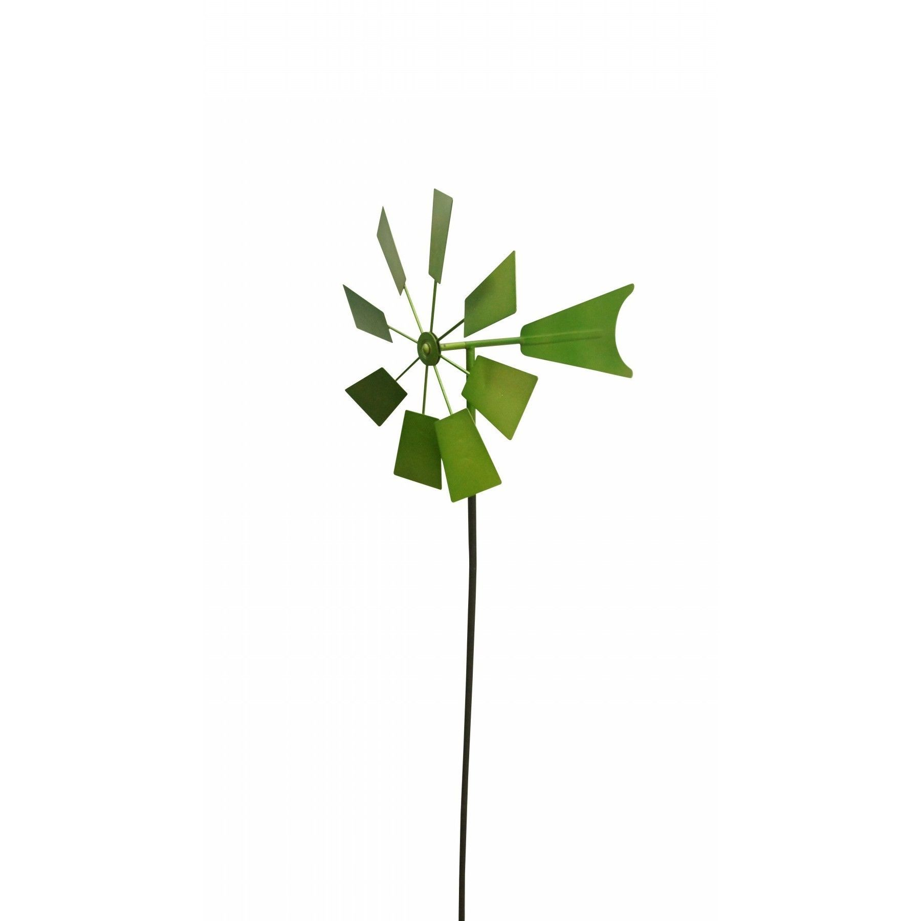 Alpine Green Metal Windmill Garden Stake (Green)