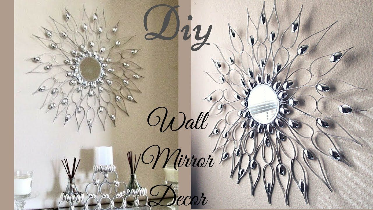 This Is a DIY Wall Mirror Decor That is Quick and Easy to make. In