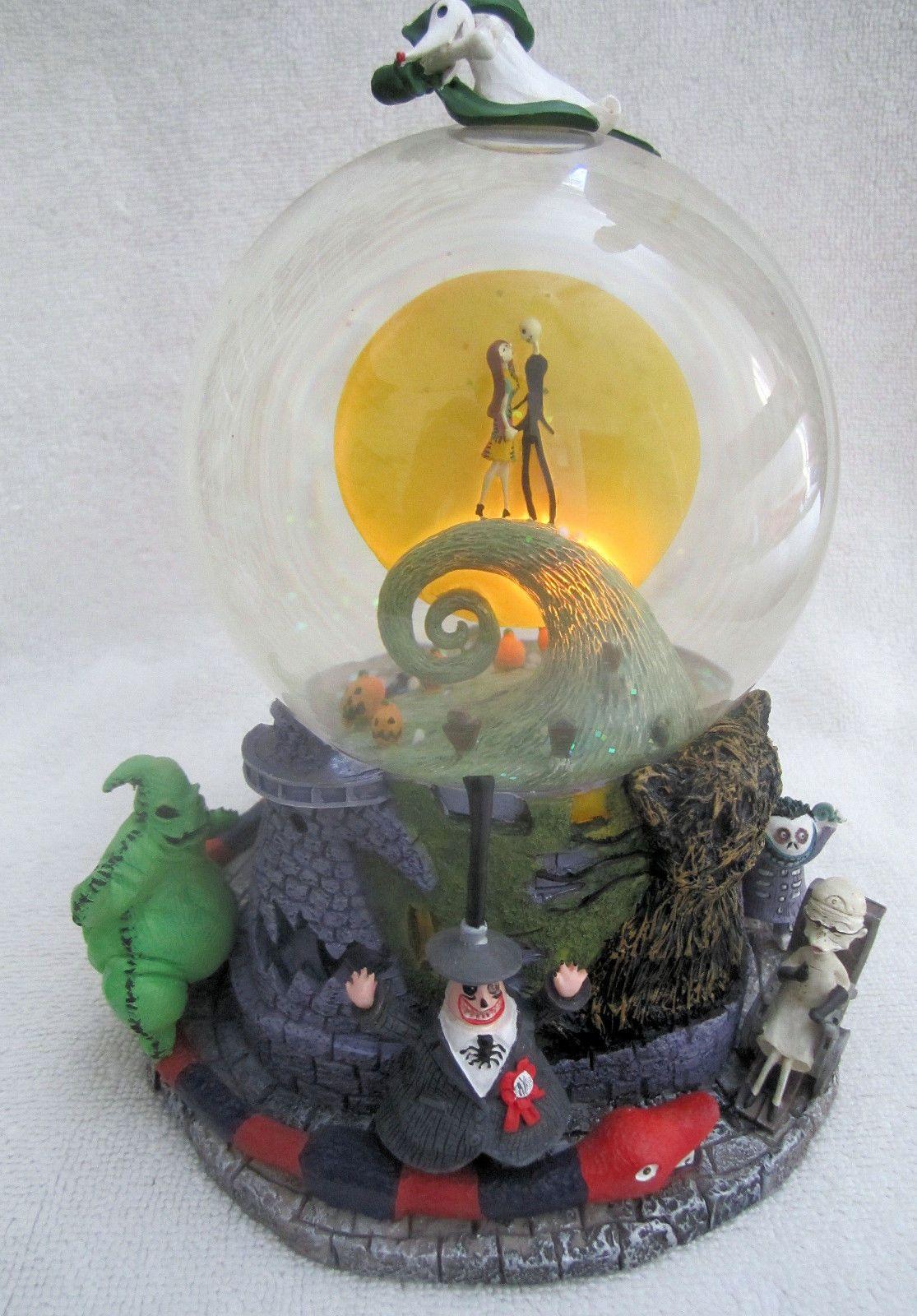 Disney Original Nightmare Before Christmas 1st Snowglobe Jack Sally ...