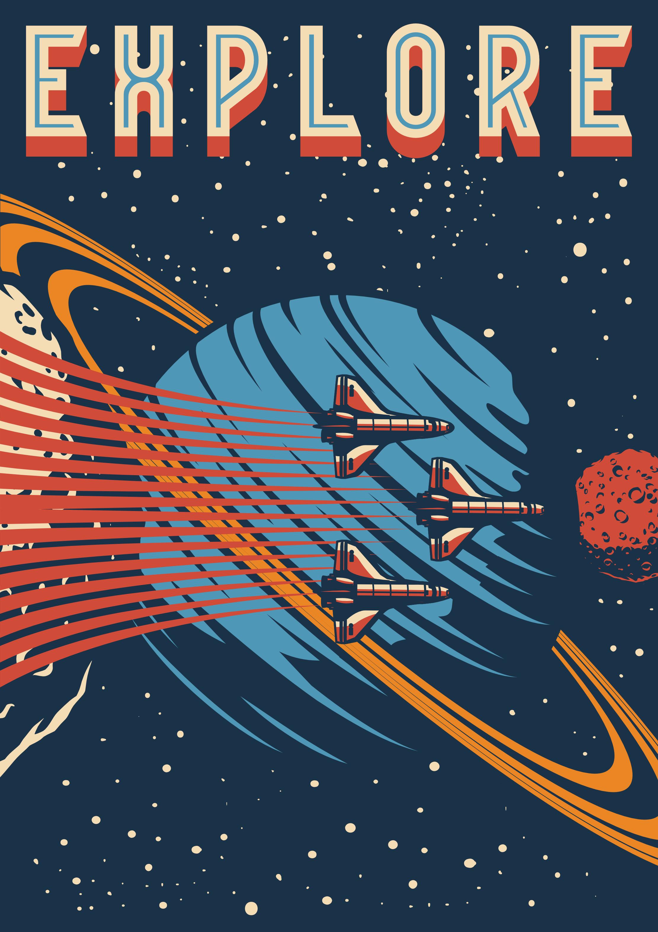 Space Art - Mars Travel - Go to Mars - Space Travel - Motivational Art