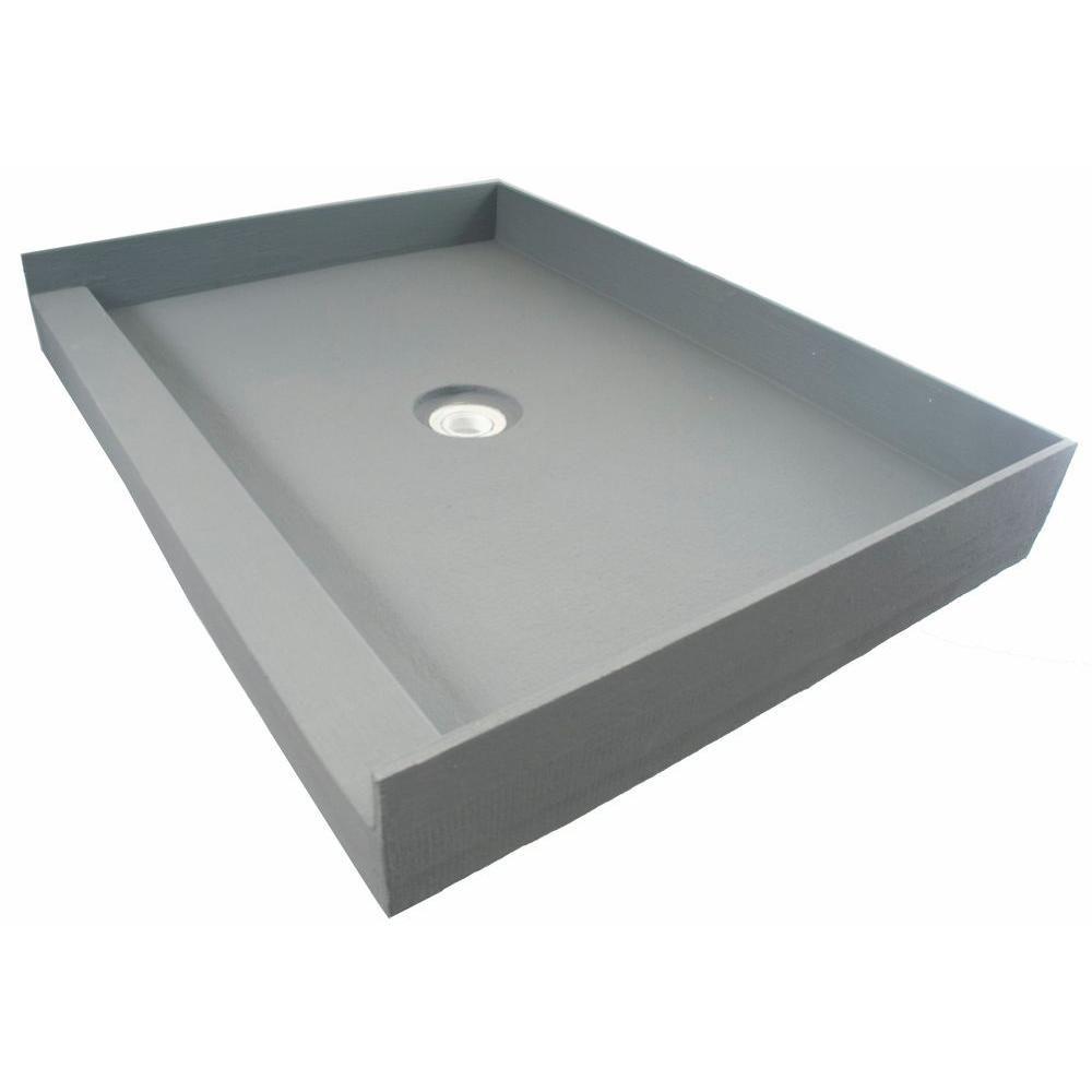 Fin Pan Preformed 36 In X 60 In Single Threshold Shower Base In