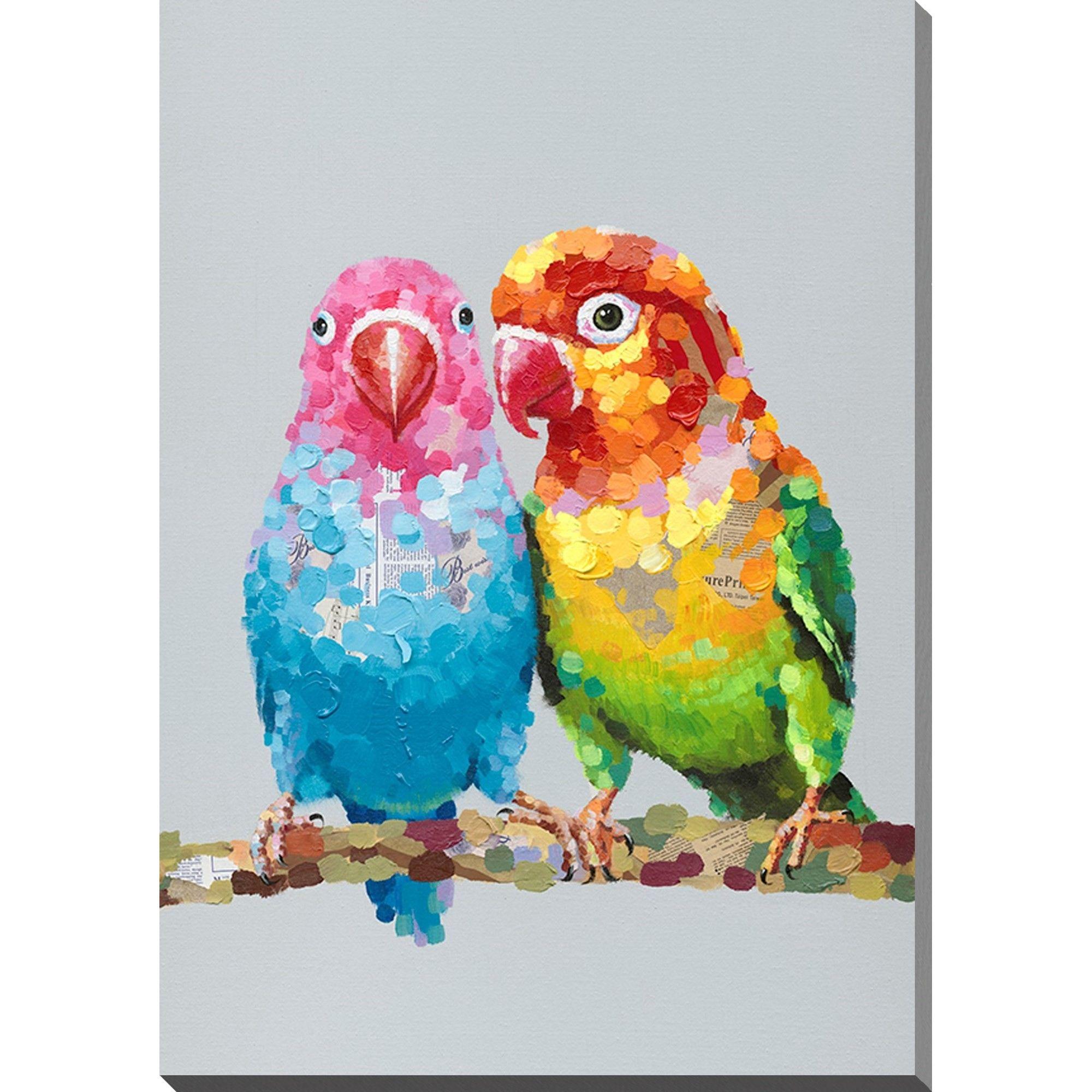 Peinture A L Huile Avec Image D Oiseaux Avec Images Peinture A