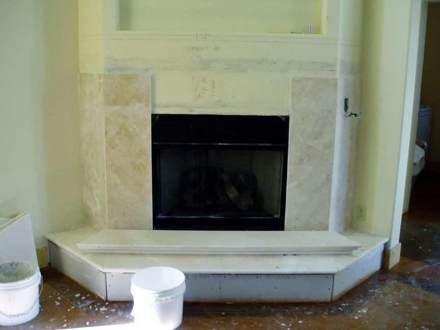 Fireplace Design fireplace surrounds : travertine marble fireplace surround | For the Home | Pinterest ...