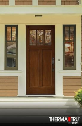 Love The Decorative Glass Please Call Next For All Of Your Window And Door Needs Craftsman Style Front Doors Craftsman Front Doors Fiberglass Exterior Doors