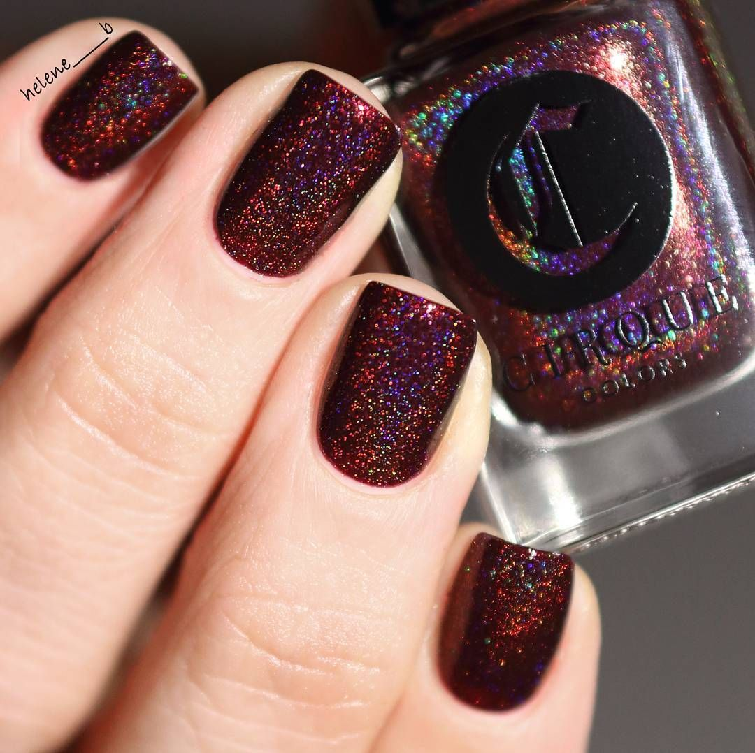 Deep Wine Nail Polish: Cirque In Ambrosia #dark Maroon Glitter Nail Polish