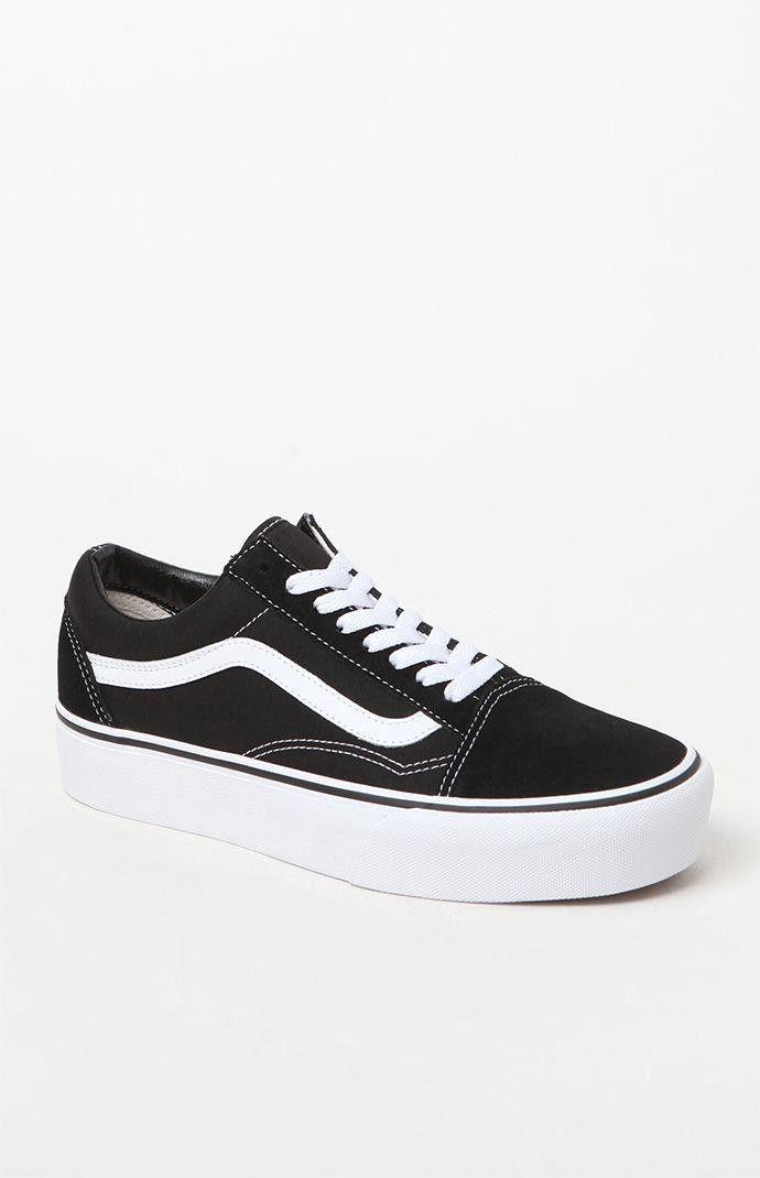 Vans Women s Old Skool Platform Sneakers - 4.5  4a2b0480f