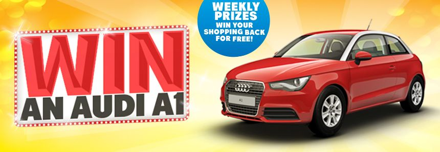 WIN AN AUDI A1! Here's enter: 1. Make a purchase at your ...