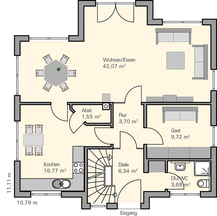 grundriss eg wg abstellkammer idee mein haus und garten pinterest house french. Black Bedroom Furniture Sets. Home Design Ideas