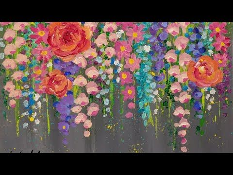 14 Paint Cotton Swab FLOWERS With Acrylics
