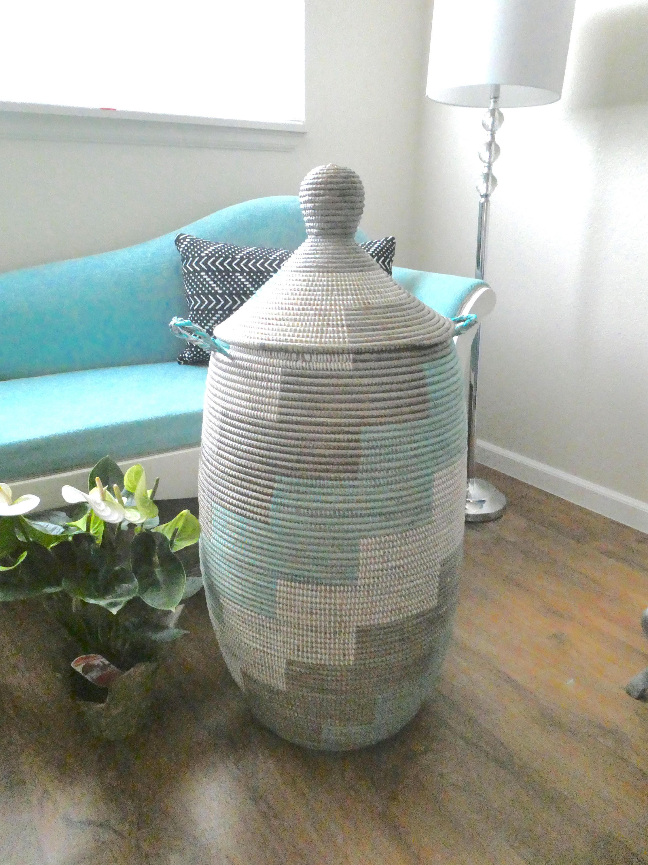 Extra Large Laundry Basket 1m Tall More Than 3 Feet Tall Aqua