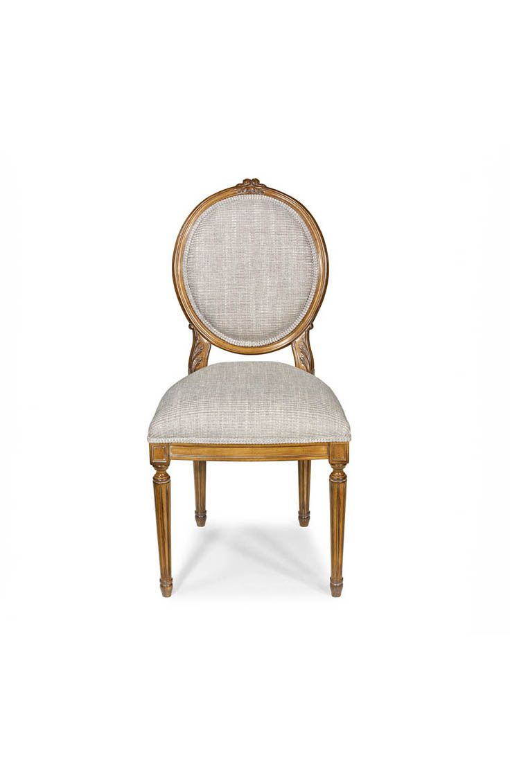 The Dior Dining Chair Is Shown In Cherry Wood With A Leblon Finish  # Muebles Leblon Cordoba
