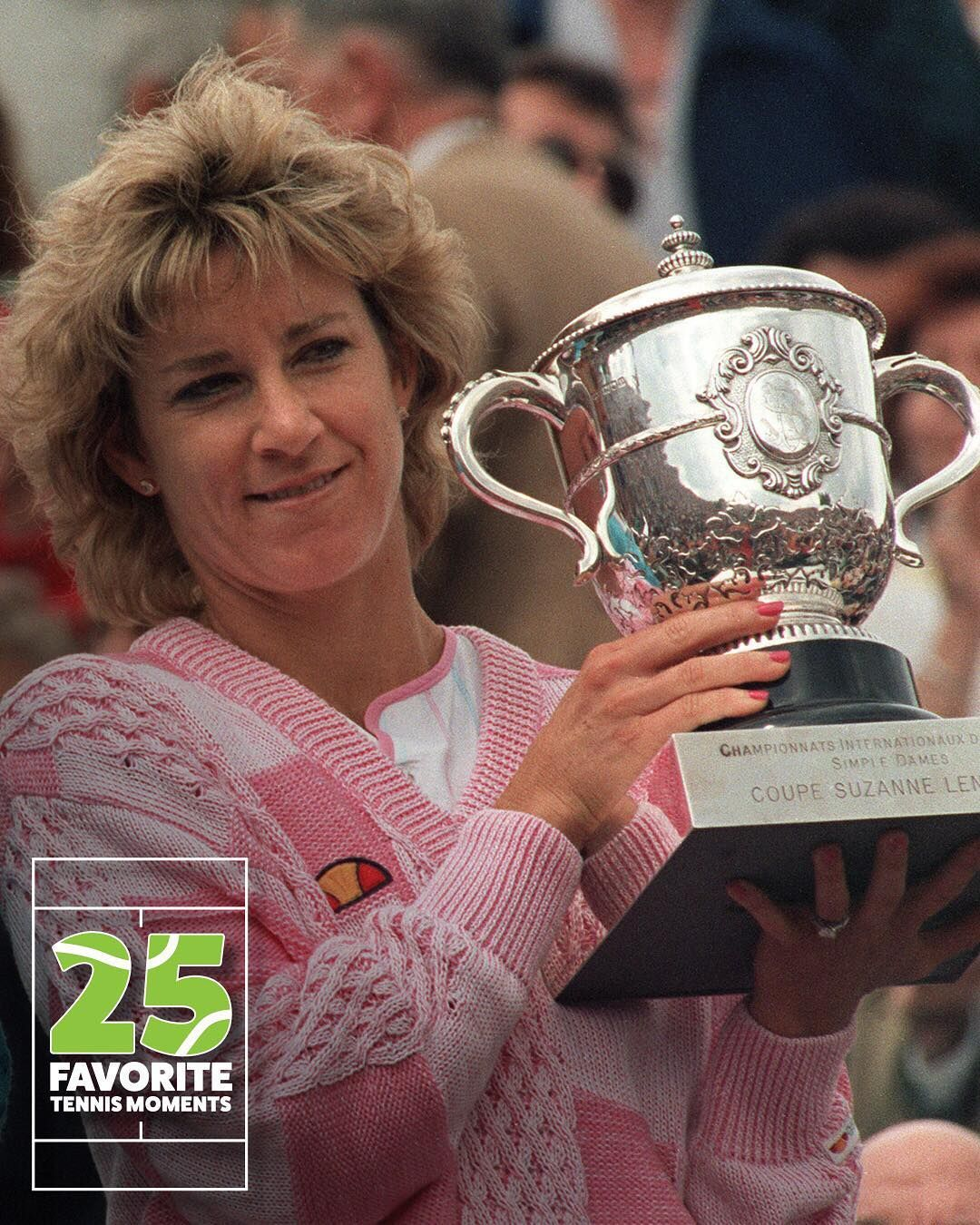 Chris Evert 18 Grand Slam singles titles