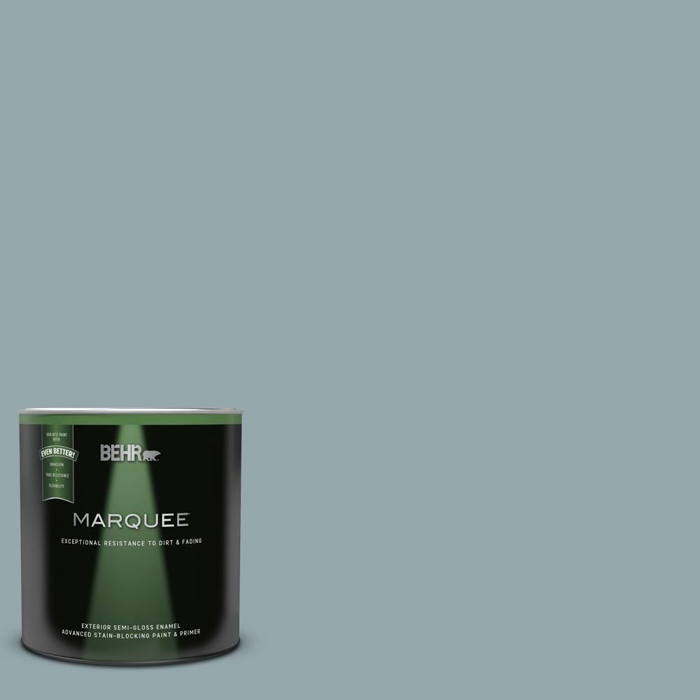 Behr Marquee 1 Qt N470 4 Norwester Semi Gloss Enamel Exterior Paint And Primer In One In 2020 Behr Marquee Exterior Paint Behr Marquee Paint