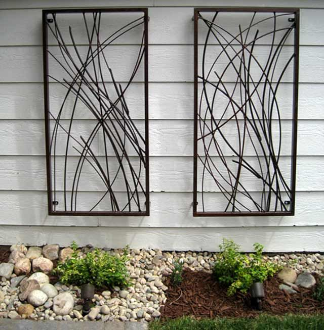Metal garden wall art products i love pinterest for Outside wall art