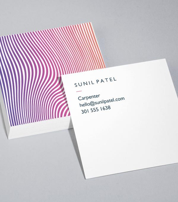 browse square business card design templates - Square Business Card Size